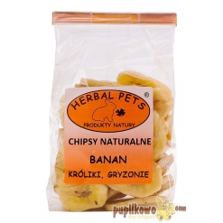 Herbal Pets - chipsy naturalne - banan 75g