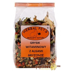 Herbal Pets - grysik witaminowy z algami 150g