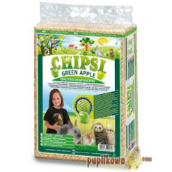 Chipsi Green Apple wióry, ściółka- 60l/3,2 kg